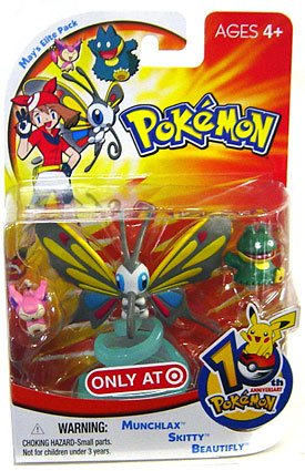 Picture of Hasbro Pokemon Mini Action Figure Set May's Elite Pack with Munchlax, Skitty & Beautifly (B000NK78V6) (Pokemon Action Figures)