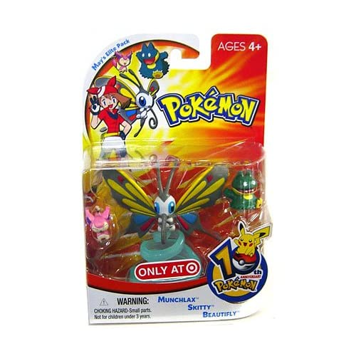 Pokemon Mini Action Figure Set May's Elite Pack with Munchlax, Skitty