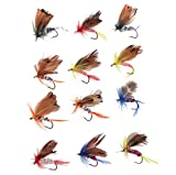 Agptek® 48pcs Assorted Trout Flies Fishing Fly Dry Wet Hook Set