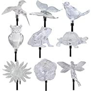 Moonrays Solar Stake Light Garden Accents Lawn Ornament-ACRYLIC STAKE LIGHT