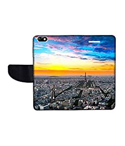 KolorEdge Printed Flip Cover For Huawei Honor 4X Multicolor - (55KeMLogo09159Honor4X)