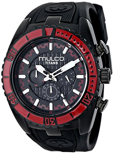 MULCO MW5-1836-065 UNISEX BLACK LEATHER CASE RRP £168 WATCH