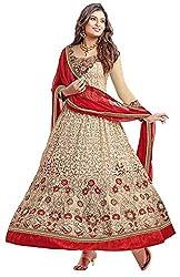 Shiv Fashion New Women's Braso Anarkali Semi-Stitched Dress Material