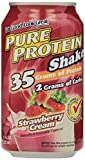 Worldwide Nutrition - Pure Protein Shake 35 Grams Protein, Strawberry Cream 11oz (Pack of 12)