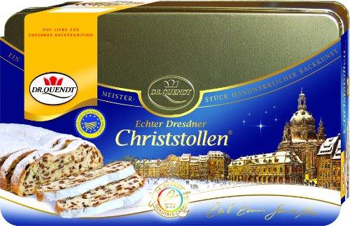 Dr. Quendt Dresdner Christstollen Dose, 1er Pack (1 x 1 kg)
