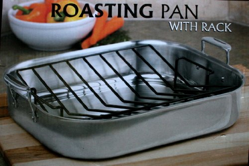 Stainless Steel Roasting Pan with Rack - Professionals
