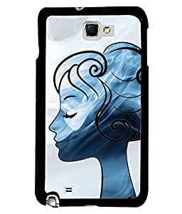 Fuson Cute Girl Back Case Cover for SAMSUNG GALAXY NOTE 1 - D3662