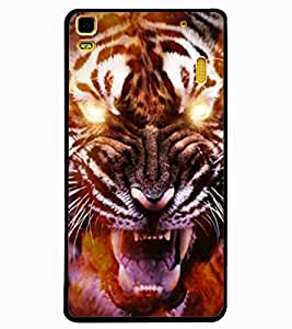ColourCraft Roaring Tiger Design Back Case Cover for LENOVO A7000