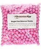 Bright Pink Shimmer Sixlets Candy 1LB Bag