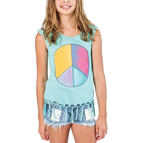 Billabong Youth Girls Marketplace Gypsy Tank Shirt, Turquoise, Medium front-790121