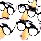 Dazzling Toys Nose, Eyebrows & Mustache Glasses - 6 Pieces (D045)