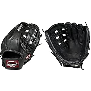 Nokona Pro Elite Bloodline BL-1275H-Black 12.75 Baseball Glove (Right Handed Throw)