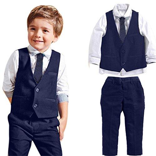 Culater® i neonati matrimonio signore adatta alle camicie gilet pantaloni lunghi legano i vestiti (4)