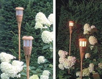 5er set 5 x tikki solar fackel garten solarfackel lampe. Black Bedroom Furniture Sets. Home Design Ideas