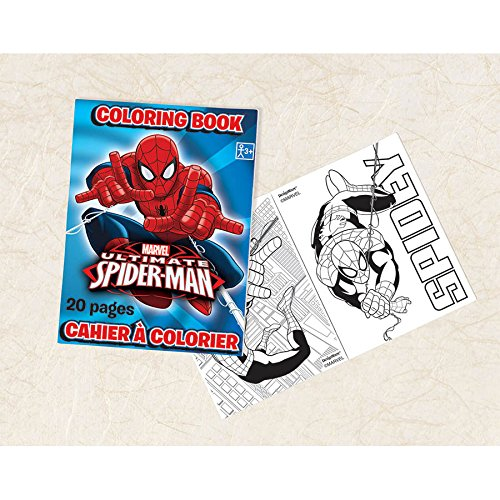 "Amscan Ultimate Spider Man Coloring Book,3-1/2 x 2-1/2"", Blue/Red"