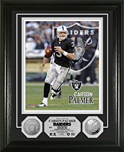 NFL Oakland Raiders Carson Palmer Silver Coin Photo Mint by Highland Mint