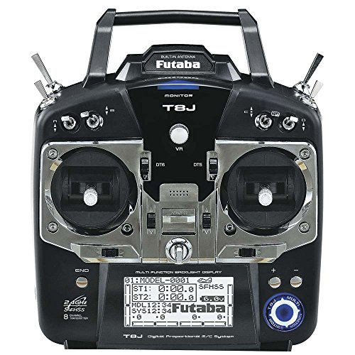 Futaba 8JA 8-Channel 2.4GHz S-FHSS Air Radio Transmitter Mode 2 with R2008SB Receiver