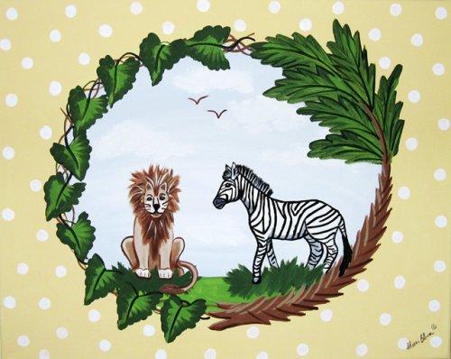 Sherri Blum Jungle Safari Animals Nursery Wall Art - 2 - Buy Sherri Blum Jungle Safari Animals Nursery Wall Art - 2 - Purchase Sherri Blum Jungle Safari Animals Nursery Wall Art - 2 (Toys & Games, Categories, Arts & Crafts)