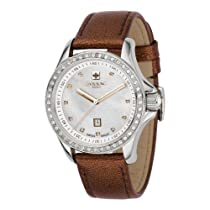 Zodiac Allstar Brown Leather Crystal Womans Watch ZO6908