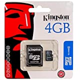 Bargains Depot? Products - Genuine Kingston 4 GB 4gb (4 Gigabyte) Class 4 MicroSDHC / SD HC Micro Secure Digital High Capacity Flash Memory Card SDC4/4GB for ZTE Cell phone / Tablet Compatible : Amigo, Avail, Blade, Blade II, Chorus, Era, FTV Phone, Kis, Libra, Light Tab 2 V9A, Light Tab V9C, Memo, Mimosa X, N280, N290, Nova 3.5, Nova 4, Optik, PF112 HD, Racer II, Rio, Sage, Score, Score M, Skate, Skate Acqua , Style Q, U900, V821, V875, V880E, V9, V9+, Warp, X990D - Bargains Depot?