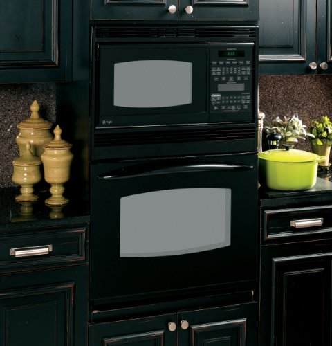 "Ge Pt970Drbb Profile 30"" Black Electric Combination Wall Oven - Convection"