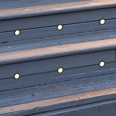 10 Ultimo Designs® LED Round Garden Deck & Kitchen Plinth Lights IP67