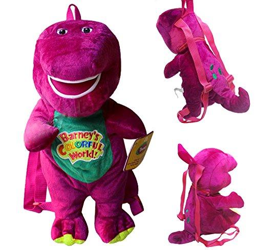 Barney Plush Backpack Kids' Children Schoolbag front-660081
