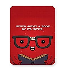 PosterGuy Mouse Pad - Never judge a book by its movie | Designed by: Codeburnerz Technologies