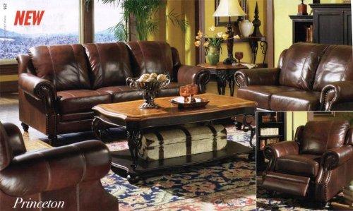 Princeton U2013 Tri Tone Burgundy Leather Sofa By Coaster