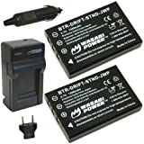 Wasabi Power Battery (2-Pack) and Charger for Drift DSTBAT Standard Battery and Drift HD, HD170, HD170 Stealth, HD720