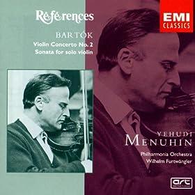 Bart�k:Violin Concerto/Sonata for solo violin