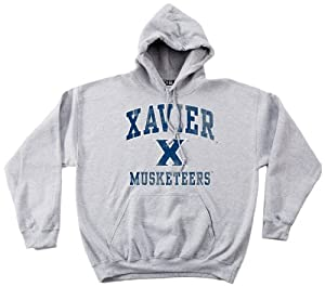 NCAA Xavier Musketeers 50 50 Blended 8-Ounce Vintage Mascot Hooded Sweatshirt, Large,... by SDI