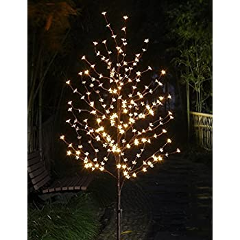 Lightshare 6 Feet Cherry Blossom Lighted Tree, 