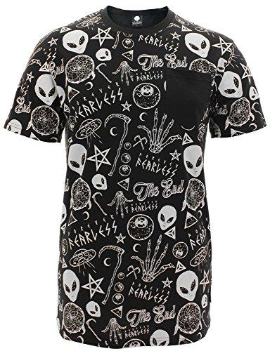 FearlessIllustration -  T-shirt - Maniche corte  - Donna nero X-Large