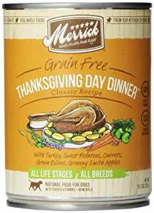 Merrick Thanksgiving Day Dinner Dog Food 13.2 oz (12 Count Case)