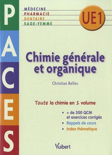 Chimie générale et organique - PACES UE1 gratuit