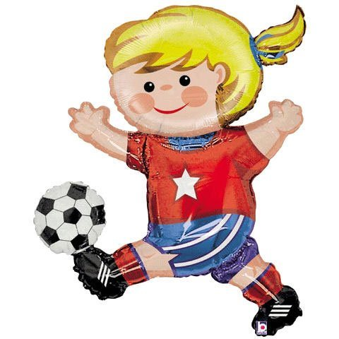 Soccer Girl Helium Shape (1 per package)