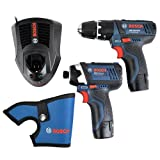Bosch 06019B697F GSB 10.8-2-LI Plus GDR 10.8-LI Hammer Drill with Charger and 2 x 2Ah Batteries L-BOXX