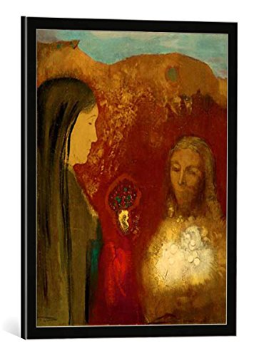 framed-art-print-odilon-redon-le-christ-et-la-samaritaine-le-bouquet-blanc-decorative-fine-art-poste