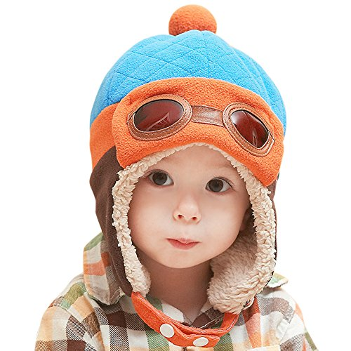 CHIC-CHIC-Garons-Fille-Bb-Hiver-Chaud-Cap-Chapeau-Bonnet-Aviateur-Pilote-Crochet-Earflap-Chapeaux-Dguisement