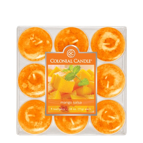 Colonial Candle Mango Salsa Tealights, Set of 9 (Colonial Candle Mango Salsa compare prices)