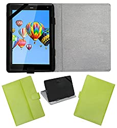 ACM LEATHER FLIP FLAP TABLET HOLDER CARRY CASE STAND COVER FOR DIGIFLIP PRO XT811 GREEN