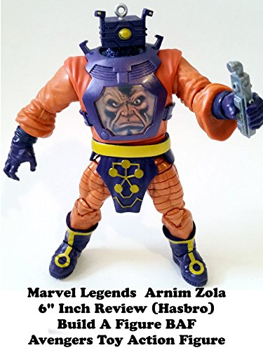 "Marvel Legends ARNIM ZOLA 6"" inch Review (Hasbro build a figure BAF) Avengers action figure toy"