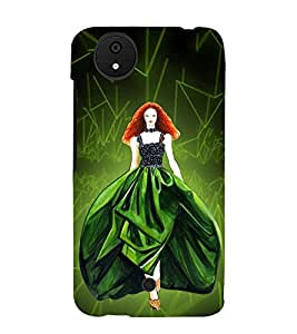 Beautiful Princess 3D Hard Polycarbonate Designer Back Case Cover for Micromax Android A1 :: Micromax Canvas A1 AQ4502