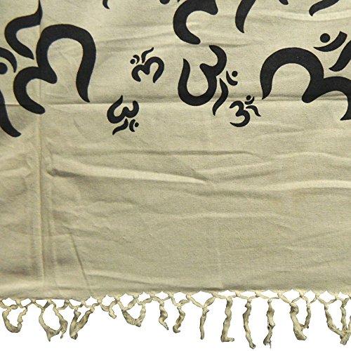 Colcha OM blanco y negro Cortina decoración