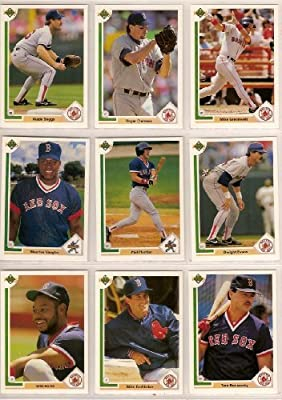 Boston Red Sox 1991 Upper Deck Baseball Team Set (PLUS RECEIVE A FREE Mike Greenwell 1987 Topps Rookie Card) (Wade Boggs) (Mike Greenwell)