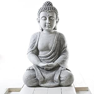 buddha figur buddha skulptur garten buddha meditierend. Black Bedroom Furniture Sets. Home Design Ideas