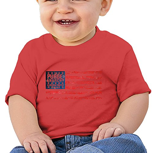 Jirushi Infants &Toddlers Baby's Purge Anarchy Flag Red T Shirts For 6-24 Months