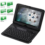 Docooler Wireless Bluetooth Keyboard + Leather Case Stand for Motorola Xoom Tablet PC