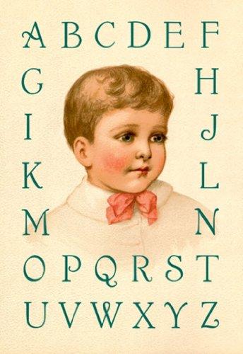 Big Boy'S Alphabet, By Ida Waugh, 12X18 Paper Giclée front-883547